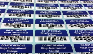 Sticky barcode labels