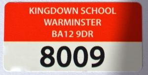 Red asset label