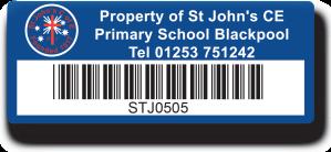 School Asset Label