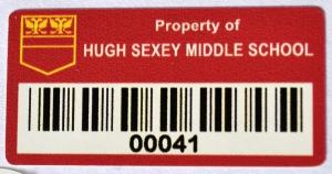 bar code asset label sticker